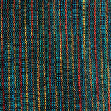 Northern Lights Blue-Green w. Red & Gold Yarn-Dyed Woven Stripes Cotton, #IND006.
