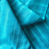 Turquoise Waters Yarn-Dyed Woven Stripes Cotton, #IND051.