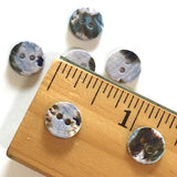 "Tiny Shiny Lilac Shell Rustic Mix, 3/8"", Pack of 23 buttons  #23114"