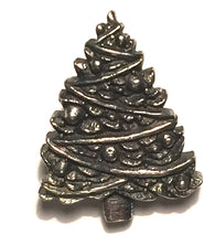 "Christmas Tree Button in Pewter 7/8"" Made in USA"