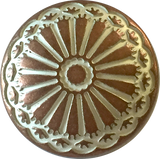 "Southwest Sunflower Copper / White Button 3/4"" shank back #SWC-8"