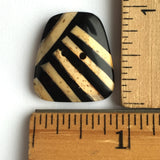Stripezoid Bamboo Button, 2 hole 1""