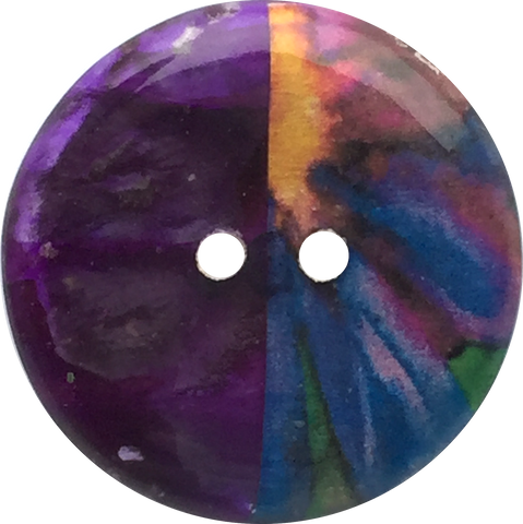 Purple Half/Half Coco Art Button 1""
