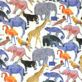 Liberty of London 'Queue for the Zoo' Fine Cotton, Tana Lawn, 1/2 Yard