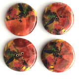 "Pomegranate Coconut Abstract Half/Half Button 1"" SALE $2.85 each"