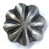 "Tiny Southwest Silver Umbrella Repousse Button 1/2""  # WN212"