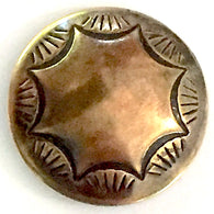 "Tiny Morning Star Shiny Brass 1/2"" Concho Button    # WN22B"