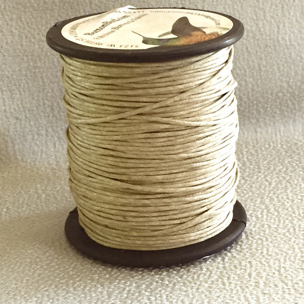 Tan Cording, Leather Look Cotton 1mm by the 76-yard roll $15.20