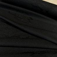 "Orange/Gold Chrysanthemums on Navy Kimono Silk Print 14"" x 43"" Pieces  #3778"