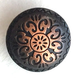 "Copper / Black Southwest ""Durango"" Button 5/8"" Round #SWC-3"