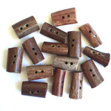 "Genuine Antler Buttons 1"" Natural Browns, Barrel Shape   #SW-203"