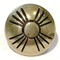 "Small Golden Brass Zia Sun button 1/2"" #SW-39"