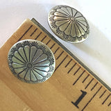 "SALE Small Sunflower Southwest Button 1/2"" Silver,  #SW-51"