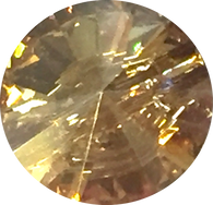 "Gold Swarovski Crystal Button 1/2"" Round"