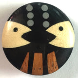 Talking Fish Wooden Button 1""