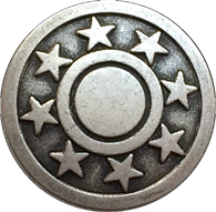 "Eight Stars Metal Button 3/4"" # SWC-5"