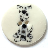 Spot, Blue Dog Porcelain  1-1/8""