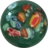 Green Millefiori Button-Gems, Vintage, Japan # GL304