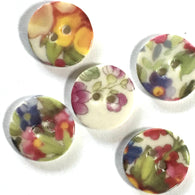 Liberty Porcelain Buttons, 11/16""