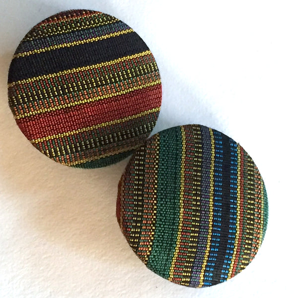 Set of 6 Southwest Stripe Buttons 1-1/4""