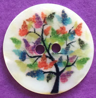 Magical Butterfly Tree Shell Button 13/16""