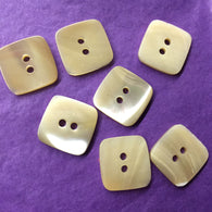 Light Butterscotch Shell Square Button 9/16""