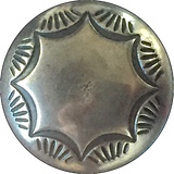 "Morning Star Silver Concho Button 5/8"" or 3/4"""