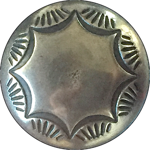 "Morning Star Silver Concho Button 5/8"" or 3/4"" #WN-23/24"