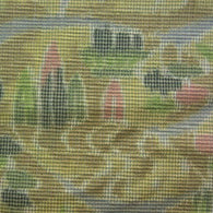 SALE Soft Focus, Blue Rain, Forests, Mountains; Kimono Silk by the Yard #477824