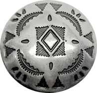 "Star Blanket Southwest STERLING Silver Button, 1"", SW-55"