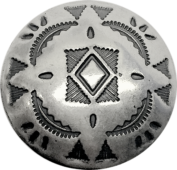 "Star Blanket Southwest Silver Button, 1"", SW-48"