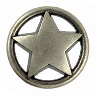 "Texas Star Silver 7/8"" concho button"