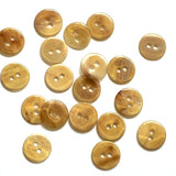 "Tiny Clear Caramel Amber 7/16"" Buttons, Pack of 12  #SP23/520"