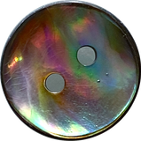 "Greens & Blues Vivid Abalone 5/8"" / 15mm, Pack of 8 for $11.20  #0034"