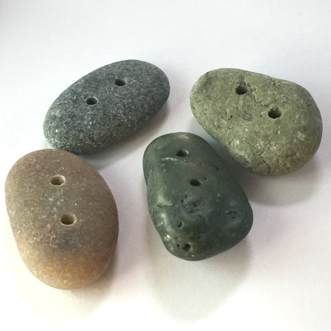 Beach Stone Buttons, 4 Mixed, # BCH-51