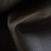 Jet Black Cotton Stretch Twill Designer End, by the Full Yard #SDC4343
