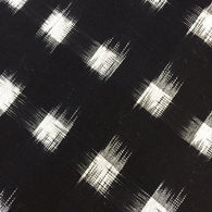 Black/White Ikat Blocks Cotton Handloom, By the Yard  #CHL-119