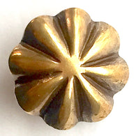 "3/4"" Brass Scalloped Umbrella Repousse SCREW BACK. # WN214B CH"