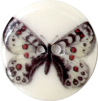 butterfly button black white