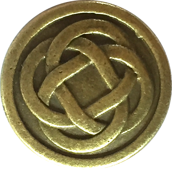 Celtic Knot Metal Button 11/16""