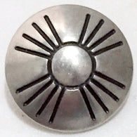 "3/4"" concho southwest zia button silver"