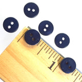 "3/8"" Dark Navy River Shell 2-hole Button, TEN for $8.00   #2249"