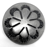 "Desert Primrose Concho Button, 5/8"" Silver Color #SW-43"