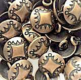 "Small 1/2"" Brass Concho Button Four Directions  #SW-7"