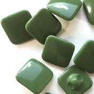 "Green Vintage Glass 1/2"" Square. Set of 6 buttons for $10.50"