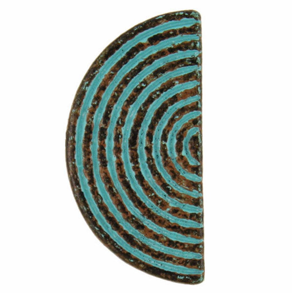 Astral Gateway Half Circle Green Patina 7/8""