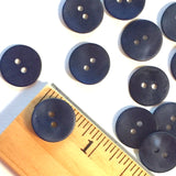 "Dark Navy Blue Indigo Agoya Shell 5/8"" 2-hole Button, Pack of 8 for $7.20   #1209"