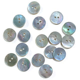 "1/2"" Light Blue Pearl Shell 2-hole Button, 6 for $6.00   #183"