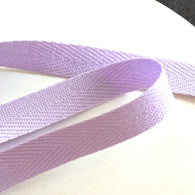 "3/8"" Light Lilac Cotton Twill Tape by the 33 yard roll. Japan"