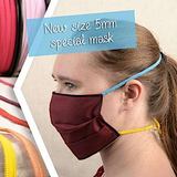 "Mask Elastic, 19 Color Choices, 55 yard Roll, 3/16""/5mm. $22.00-$25.00/roll"